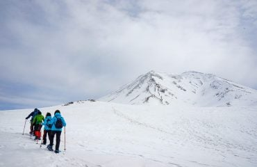 Walking towards the first lookout, Mt Asahidake